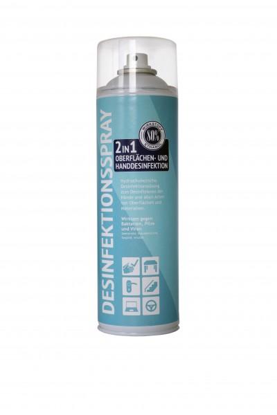 2in1 Desinfektionsspray 500ml Oberflächen- u. Handdesinfektion
