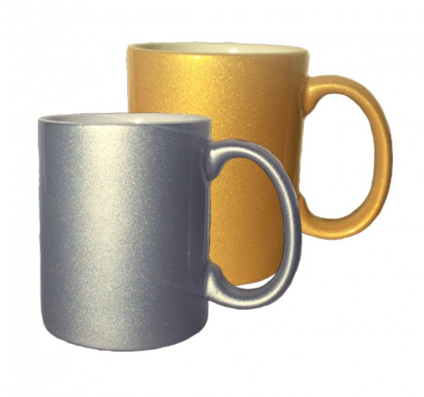 Metallic Sublimationstasse in 2 Farben