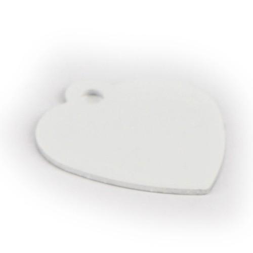 Aluminium Anhänger Herz einseitig