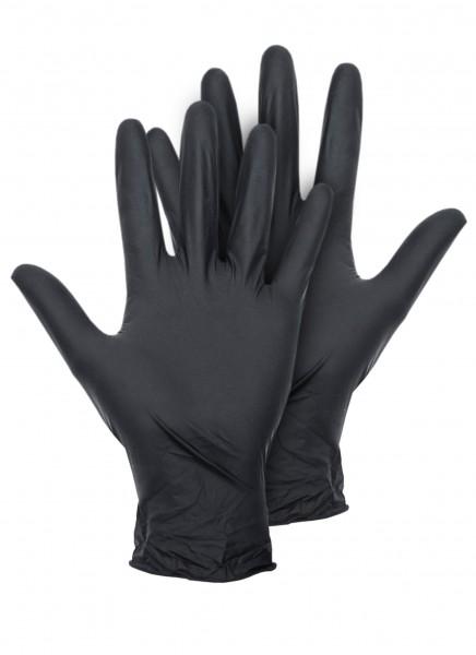 Latex Handschuhe schwarz 100er Box